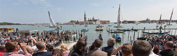 La coppa america dalle rive di Venezia streaming video