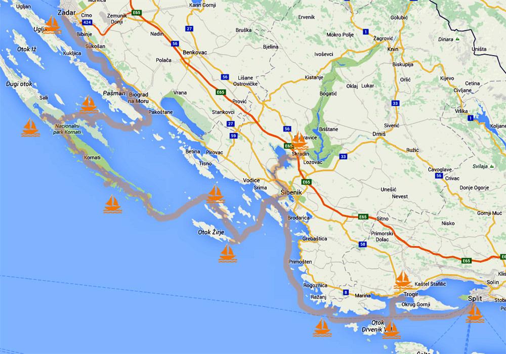 Croazia 2016 Itinerario Crociera Barca a vela per famiglie