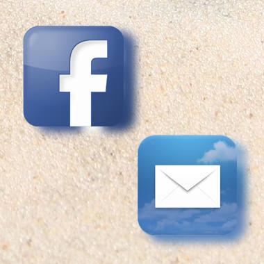 Rimani in contatto via mail, newsletter o Facebook